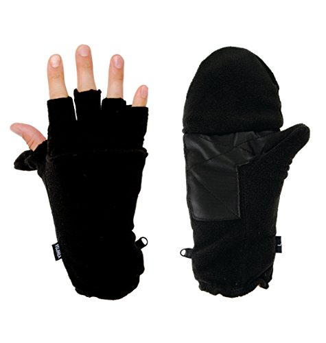 Hot Headz Polarex Glomitts Glove, Black, Small