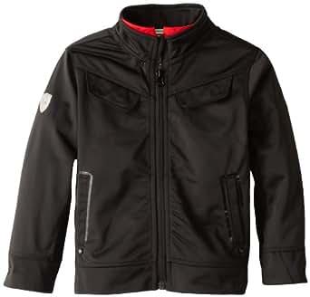 PUMA Little Boys' Toddler Ferrari Track Jacket, Black, 2T