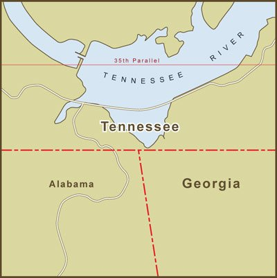 Amazon.com: Home Comforts Peel-n-Stick Poster of Map of Tennessee ...