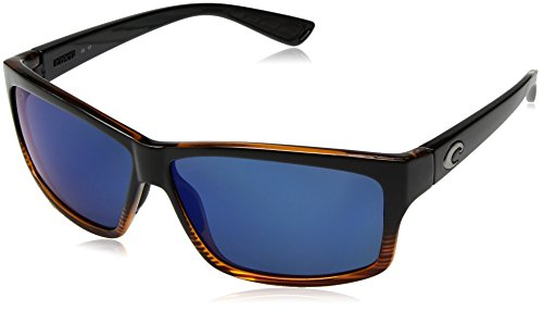 Costa del Mar Cut Polarized Iridium Square Sunglasses, Coconut Fade, 60.6 - Costa Cut