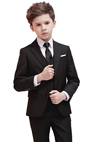 Boys Suits 5 Piece Slim Fit Suit,Ring Bearer