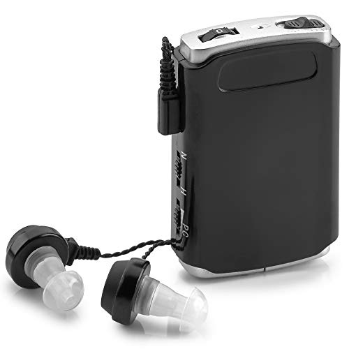 Sound Amplifier – Pocket Sound Voice Enhancer Device with Duo Mic/Ear Plus Extra Headphone and Microphone Set, Personal…