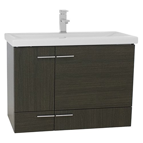 Iotti NS17 Simple Wall Mounted Vanity with Ceramic Sink, 32