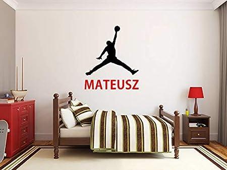 Nombre de niño Etiqueta de la pared personalizada Michael Jordan ...