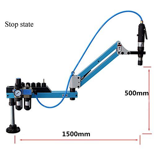 M3-M16 Vertical Type Pneumatic Air Tapping Machine Drilling Machine Pneumatic Tapping Machine Tapper Working radius:1500mm by CGOLDENWALL (Image #1)