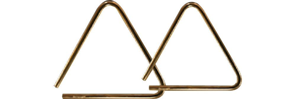 Grover Pro Bronze Pro-Hammered Triangle 8 in. by Grover Pro