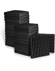 Sonic Acoustics Paneles de espuma acústica de 2,5 x 30,5 x 30,5 cm, azulejos de cuña de estudio, paneles de sonido, cuñas de aislamiento acústico, absorción de sonido para el hogar y la oficina