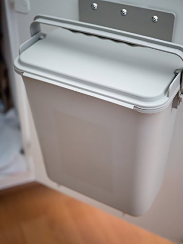 Zero Waste Mountable Kitchen Compost Bin - 1.5 Gallon, Cabinet Door, Under Sink, Countertop, Odor Free, Dishwasher Safe, Bag and Worm Compatible (Goods Mcallen Home)