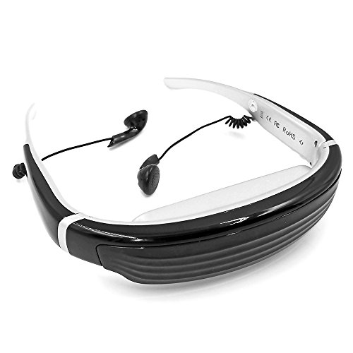 """Chunnuan Vision-720 68"""" Virtual Digital Portable 3D Video Glasses Personal Theater Widescreen with 8GB TF Card&3D Stereo Sound for TV BOX/ PSP/PS2/PS3/360-BOX/FPV"""