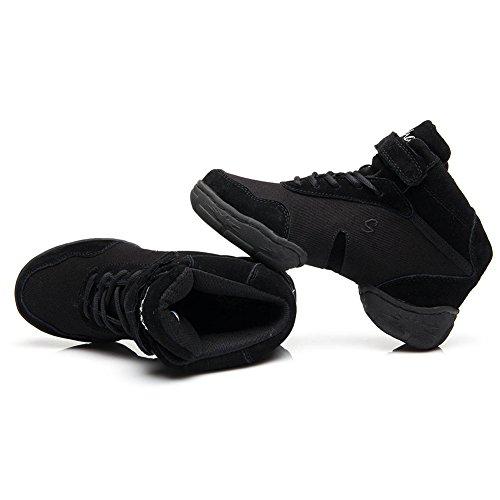 Della Sportiva Moderno Ginnastica Maglia Donna b53 Danza b Ballo Modello Nero Leather Hroyl Da It Sneaker Jazz Scarpe 0YPvnqX