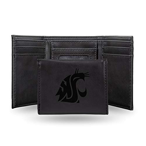 Rico Industries NCAA Washington State Cougars Laser Engraved Tri-Fold Wallet, ()