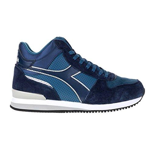 a Basso Malone Collo Sneaker S Mid Diadora Blu Uomo BIdYqT
