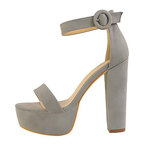 Femmes Boucle Sexy Gris à Hauts Chaussures Rugueuse imperméable Ouvert Bout Sandales Forme Peep de Talons à Plate Nightclub Sandales Plate Forme Ceinture LIANGXIE dwUqdB