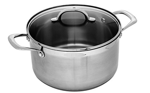Swiss Diamond Premium PSL31324i Stainless Dutch Oven With Lid, 6.4 quart/9.5'', Gray