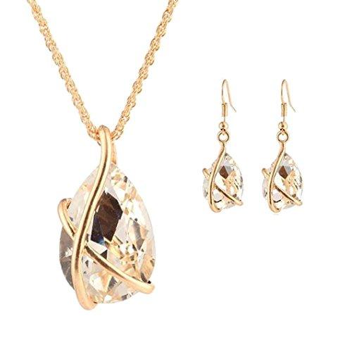 1 Set Women Necklace Pendant Drop Earrings Jewelry by TOPUNDER (Necklace Zodiac Earrings)
