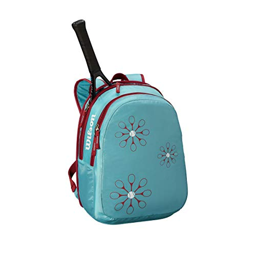 (Wilson Tennis Backpack, Blue/Pink)