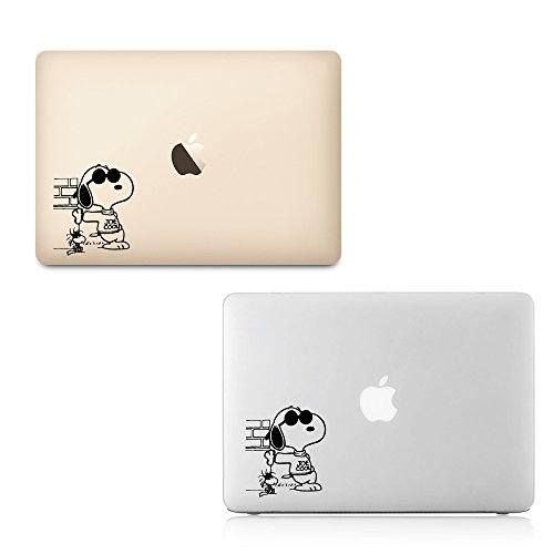"By Decorainbow- ""snoopy"" x 2 decals (6″) quotes Home Decoration bed, living, kitchen, beth room wall window laptop computer apple macbook air retina 11″ 13″ 15″ ipad car bumper decal sticker"