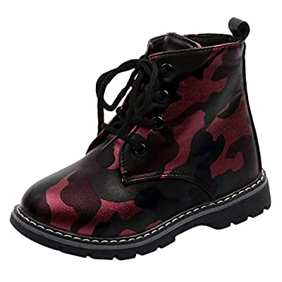 Tronet Boys Martin Sneaker, Kids Baby Boys Solid Snow Boots Non-Slip Casual Camouflage Shoes