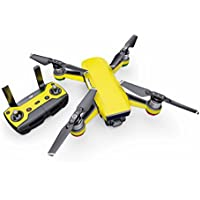 Solid State Yellow Decal for drone DJI Spark Kit - Includes Drone Skin, Controller Skin and 1 Battery Skin