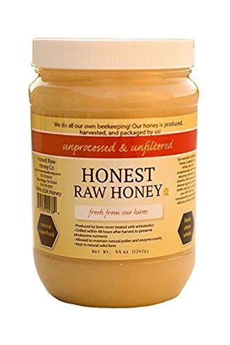 Honest Raw Honey, Pure Natural American Honey, 44 Ounce