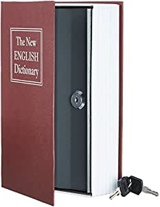 AmazonBasics Book Safe - Key Lock, Red