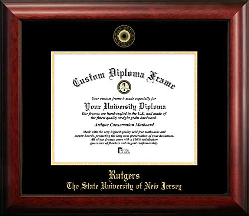 (Campus Images Rutgers University, The State University of New Jersey, 11w x 8.5h Gold Embossed Diploma Frame)
