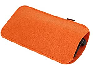 chytaii bolsa de gafas funda de gafas fieltro almacenamiento bolsa funda para gafas de sol gafas gafas, color naranja, tamaño 18 * 9 cm