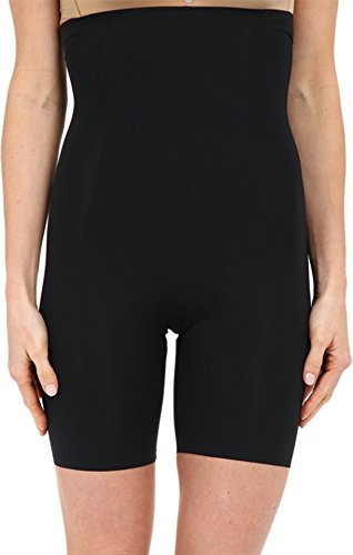 SPANX Women's Thinstincts High-Waisted Mid-Thigh Short, Very Black, MD ()