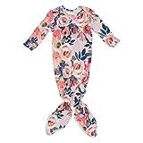 Posh Peanut Baby Gown Soft Viscose Bamboo Girl's Layette Comfortable Newborn Swaddle (Dusk Rose)
