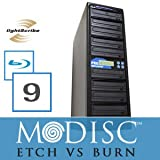 Write Once&Read Forever 9 Burner M-Disc Ready Blu-Ray Lightscribe CD/DVD Duplicator+500GB+USB+Free Permanent 10pk MDisc DVD