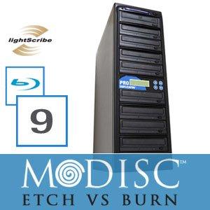 Write Once&Read Forever 9 Burner M-Disc Ready Blu-Ray Lightscribe CD/DVD Duplicator+500GB+USB+Free Permanent 10pk MDisc DVD