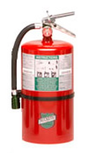 Buckeye 71100 Halotron Hand Held Fire Extinguisher with Aluminum Valve and Wall Hook, 11 lbs Agent Capacity, 7'' Diameter x 8-5/8'' Width x 17-1/2'' Height by Buckeye