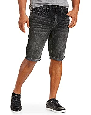 Ricky Relaxed Straight Corduroy Cut-Off Shorts Washed Black