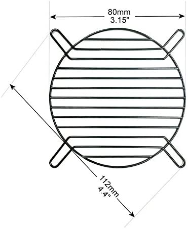 coolerguys 80mm Straight Wire Finger Grill Black with Screws 2 Pack