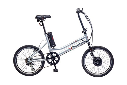Viking Street Easy Kids' Electric Bike White/Silver, 15.5' inch alloy frame, 1 speed lightweight frame simple on off pedal assist system