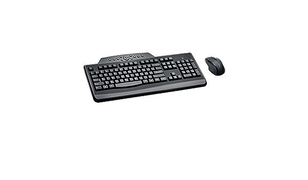 Kensington Pro Fit Wireless Media Desktop Set - Teclado (RF inalámbrico, Hogar, USB, Batería, Negro, Estándar)