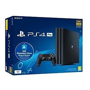 Sony Playstation 4 Pro (PS4) Consola de 1TB + 20 euros Tarjeta Prepago (Edición Exclusiva Amazon) – nuevo chasis G 41lmCP5X00L
