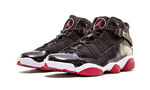 Nike Air Jordan 6 Rings ''Bred'' Men's Basketball Shoes 322992-071 Black Varsity Red-White 9 M US by Jordan