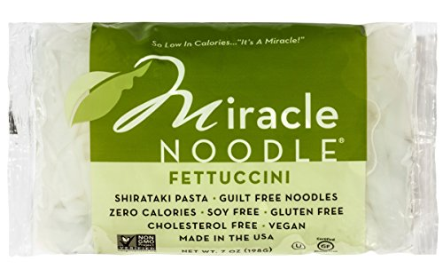 Miracle Noodle Shirataki Zero Carb, Gluten Free Fettuccini, 7 Ounce (Pack of 6)