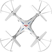 MKT syma X5SC-1 2.4G 4 Channel 6 Axis Gyro RC Headless Quadcopter With HD Camera (White, X5SC)