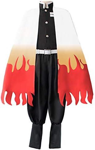 DERAYEE 鬼滅の刃(きめつのやいば) 煉獄 杏寿郎 炎柱 コスプレ衣装 コスチューム (XXL)