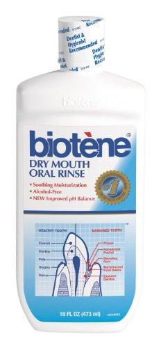 Biotene Alcohol Free Mouthwash (Biotene Dry Mouth Mouthwash, 16-ounce (Pack of 2))