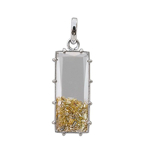 18K White Gold Genuine Gemstone Shaker Pendant Natural Baguette Diamond Jewelry Exporters (Exporter Gold Jewelry)