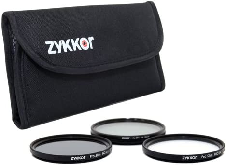 ND 0.6 Filter Kit with Deluxe Pouch MC UV Zykkor 67mm Pro Slim CPL