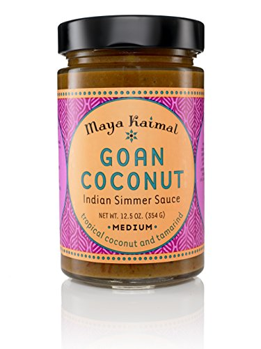 Curry Simmer Sauce (Maya Kaimal All Natural Indian Simmer Sauce - Goan Coconut - 12.5 oz)