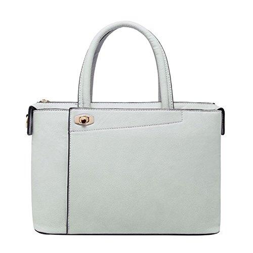 Chocolate Crocodile Faux Leather (HNYEVE HB1200010C3 Fashion PU Leather Korean Style Women's Handbag,Box Killer Package)