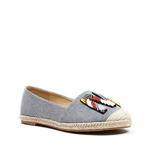 Ideal Shoes, Damen Slipper & Mokassins Blau