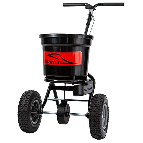Brinly P20-500BHDF Push Spreader with Side Deflector Kit, 50-Pound Capacity