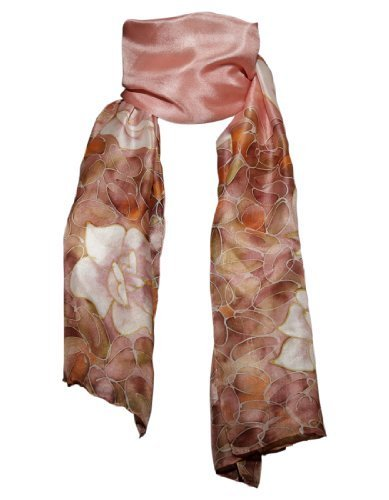 Hand-Painted-100-Silk-Scarf-Roses-on-Various-Background-Colours