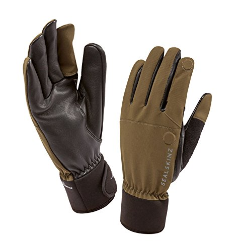 SEALSKINZ 100% Waterproof Glove - Windproof & Breathable, magnetic convertible trigger finger, suitable for photography, fishing, shooting, hunting and activities in all weather conditions ()